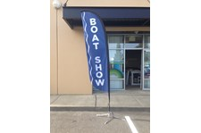 - Custom Banners - Feather Banner - Anacortes Boat Show - Anacortes, WA